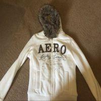 aero stripe full-zip hoodie
