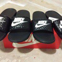Womens Nike Benassi JDI Swoosh Slide Sandals x 1